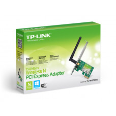 PLACA DE REDE TP-LINK PCI EXPRESS WIRELESS N TL-WN781ND 1 ANTENA 150MBPS