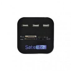 HUB USB 2.0 + LEITOR DE CARTÃO SATELLITE A-HUB07