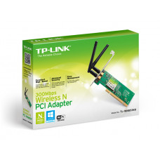PLACA DE REDE TP-LINK PCI WIRELESS N TL-WN851ND 2 ANTENAS 300MBPS