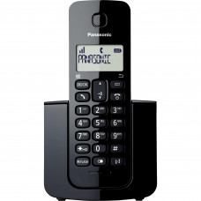 TELEFONE PANASONIC SEM FIO KX-TGB110LBB PRETO COM IDENTIFICADOR