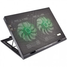 BASE PARA NOTEBOOK MULTILASER WARRIOR POWER GAMER LED VERDE LUMINOSO AC267