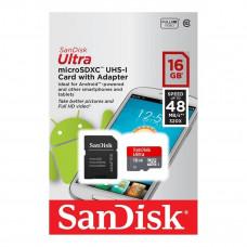 CARTÃO DE MEMÓRIA MICRO SDHC 16GB SANDISK ULTRA CLASSE 10