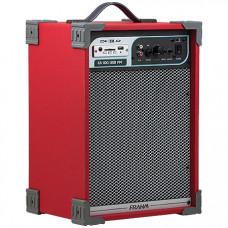 CAIXA AMPLIFICADA CA100 50W ''8'' RMS USB/SD/FM VERMELHA - FRAHM