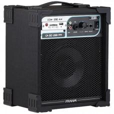 CAIXA AMPLIFICADA CA50 40W ''6'' RMS USB/SD/FM PRETO - FRAHM
