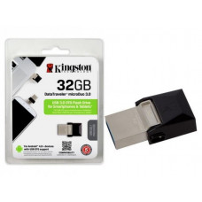 PEN DRIVE SMARTPHONE KINGSTON 32GB USB E MICRO USB 3.0 OTG DTDUO3/32GB - PRETO