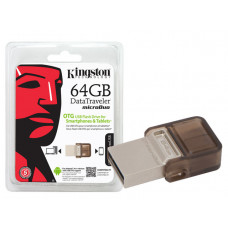 PEN DRIVE SMARTPHONE KINGSTON 16GB USB E MICRO USB 3.0 OTG DTDUO3/16GB - MARROM