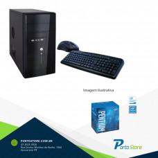 DESKTOP PS DUAL CORE G4560 3.3GHZ/4GB KINGSTON/500GB SEAGATE/ASROCK/7º GERAÇÃO