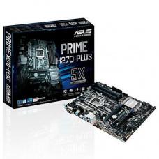 PLACA MÃE ASUS PRIME H270M-PLUS LGA 1151 VGA, DVI, HDMI, DDR4, TYPE C, USB3.0, SOM