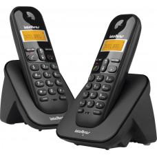 TELEFONE INTELBRAS SEM FIO TS 3112 COM IDENTIFICADOR E RAMAL - PRETO