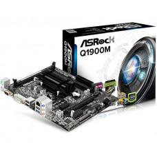 PLACA MÃE ASROCK MICRO ATX Q1900M INTEL COM QUAD-CORE J1900 DDR3 X2 VGA/DVI/USB 3.0