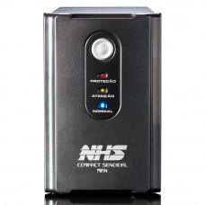 NOBREAK NHS COMPACT SENOIDAL MAX 1400VA 2 BATERIAS SELADAS 9AH BIVOLT/120V USB/ENG - 91.B0.014101