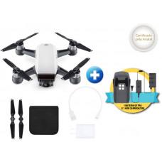 DRONE DJI SPARK WHITE ALPINE + 01 BATERIA EXTRA + HUB CARREGADOR P/ 03 BATERIAS - CP.PT.000736