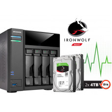SISTEMA DE BACKUP COM DISCO INTEGRADO ASUSTOR AS6104T8000 INTEL DUAL CORE J3060 1,6GHZ 2GB DDR3 TORR