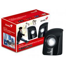 CAIXA DE SOM GENIUS SP-U115 2.0 CH 1,5W RMS PRETA ALIMENTAÇÃO USB / AUDIO P2