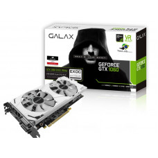 PLACA DE VÍDEO GEFORCE GALAX GTX 1060 WHITE 6GB DDR5 192BIT 8008MHZ DVI HDMI DP - 60NRH7DVM3VW