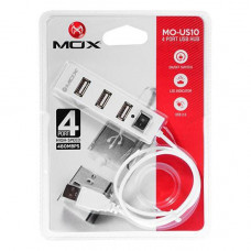 HUB USB 2.0 MOX COM 4 PORTAS MO-US10 - BRANCO