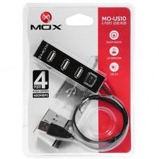 HUB USB 2.0 MOX COM 4 PORTAS MO-US10 - PRETO