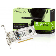 PLACA DE VÍDEO GEFORCE GALAX GT 1030 2GB EXOC WHITE DDR4 64BIT 1050MHZ DVI HDMI - 30NPK4HVS6XW