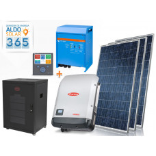 GERADOR DE ENERGIA 365 ALDO SOLAR GF-3900M365 3,9KWP FRONIUS 3KVA VICTRON MONO 220V 5,12KWH LITIO