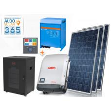 GERADOR DE ENERGIA 365 ALDO SOLAR GF-6500M365 6,5KWP FRONIUS 5KVA VICTRON MONO 220V 5,12KWH LITIO