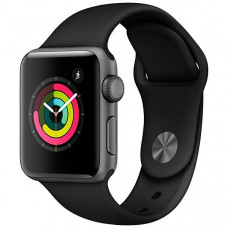 APPLE WATCH SERIES 3 38MM MTF02LL/A A1858 - SPACE GRAY / BLACK