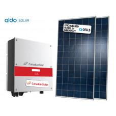 GERADOR DE ENERGIA CANADIAN COLONIAL ALDO SOLAR GEF-3300CC 3,3KWP CANADIAN MONO 220V Q CELLS