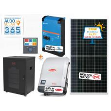 GERADOR DE ENERGIA 365 ALDO SOLAR GF-7920M365 7,92KWP FRONIUS 6KVA VICTRON MONO 220V 7,68KWH LITIO
