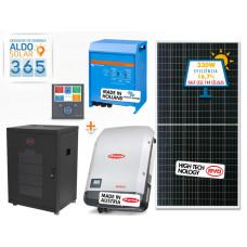 GERADOR DE ENERGIA 365 ALDO SOLAR GF-6600M365 6,6KWP FRONIUS 5KVA VICTRON MONO 220V 5,12KWH LITIO