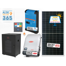 GERADOR DE ENERGIA 365 ALDO SOLAR GF-3960M365 3,96KWP FRONIUS 3KVA VICTRON MONO 220V 5,12KWH LITIO