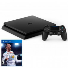 CONSOLE SONY PLAYSTATION 4 SLIM DE 1TB CUH-2115B BIVOLT + JOGO FIFA 2018 - JET BLACK