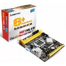 PLACA MÃE BIOSTAR H81ML-V3 LGA 1150 DDR3 VGA / USB / SOM 5.1