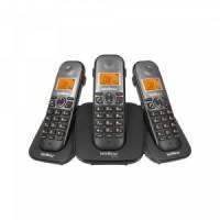 TELEFONE INTELBRAS SEM FIO TS 5123 PRETO BASE E 2 RAMAIS