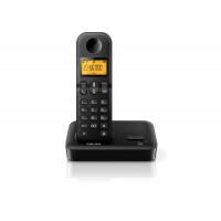 TELEFONE PHILIPS SEM FIO D1501B/BR COM IDENTIFICADOR - PRETO