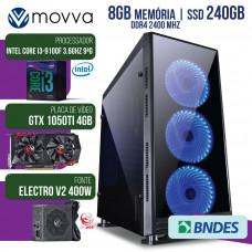 COMPUTADOR GAMER MVX3 INTEL I3 9100F 3.6GHZ 9ª GER. MEM. 8GB DDR4 SSD 240GB GTX 1050TI 4GB DDR5 FONT